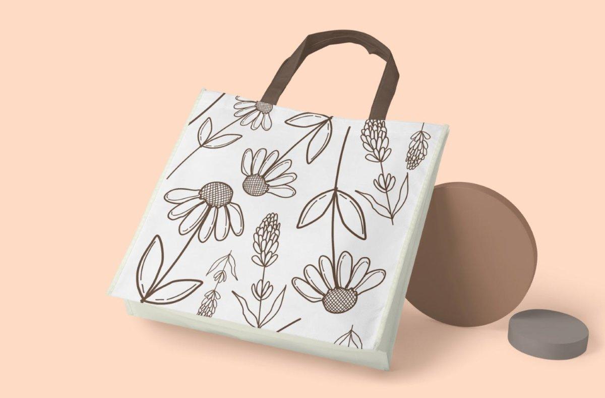 精美花卉树叶艺术矢量线条无缝隙图案设计素材 Floral Lineart Seamless Pattern插图6