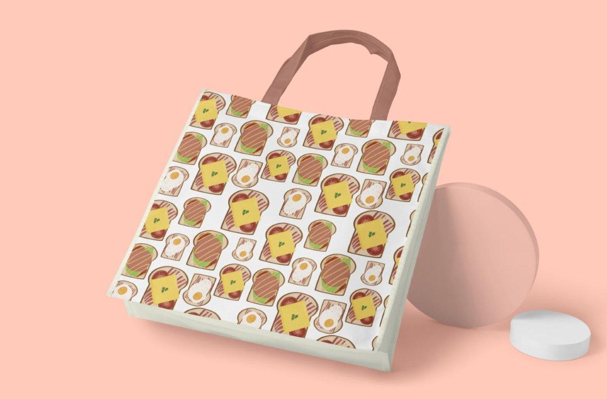 时尚三明治手绘插画PNG透明背景图片 Sandwich Seamless Pattern插图6