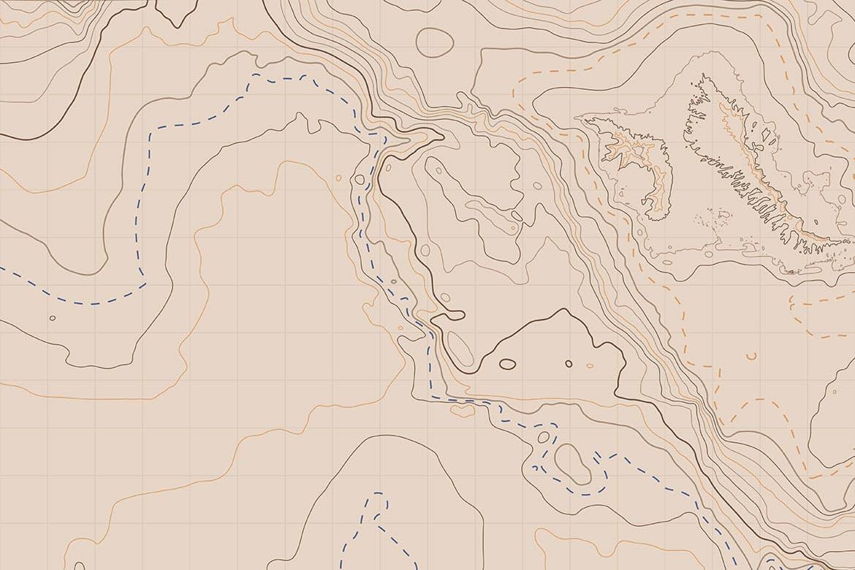 10款抽象地形图线条背景矢量设计素材 Topographic Map Backgrounds插图6