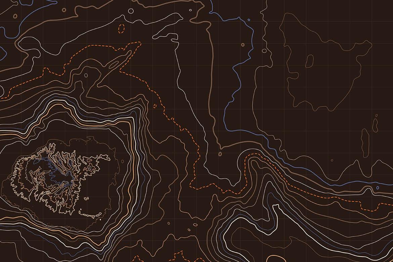 10款抽象地形图线条背景矢量设计素材 Topographic Map Backgrounds插图7