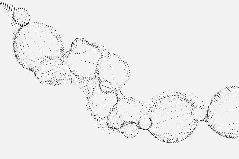 10款艺术抽象颗粒气泡粒子科幻背景底纹矢量设计素材 Bubble Particles Vector Backgrounds插图7