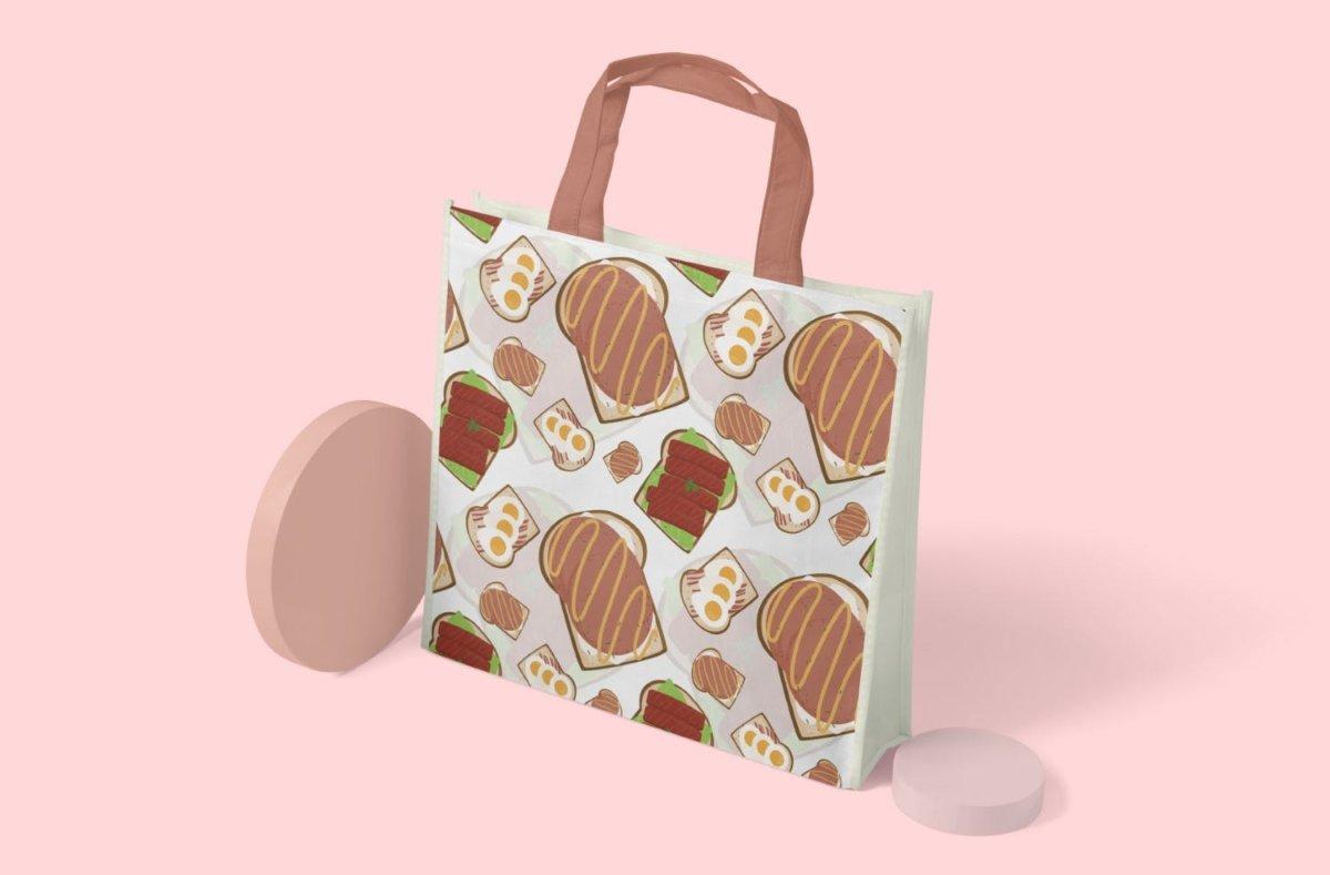时尚三明治手绘插画PNG透明背景图片 Sandwich Seamless Pattern插图8