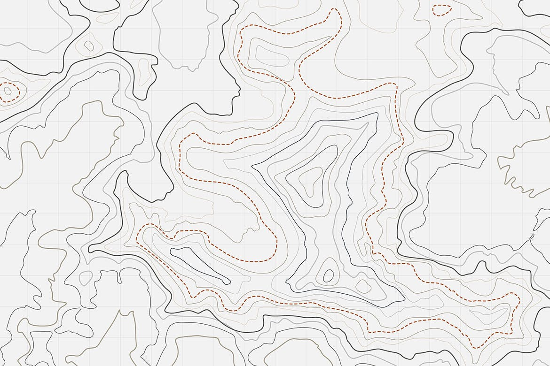 10款抽象地形图线条背景矢量设计素材 Topographic Map Backgrounds插图8