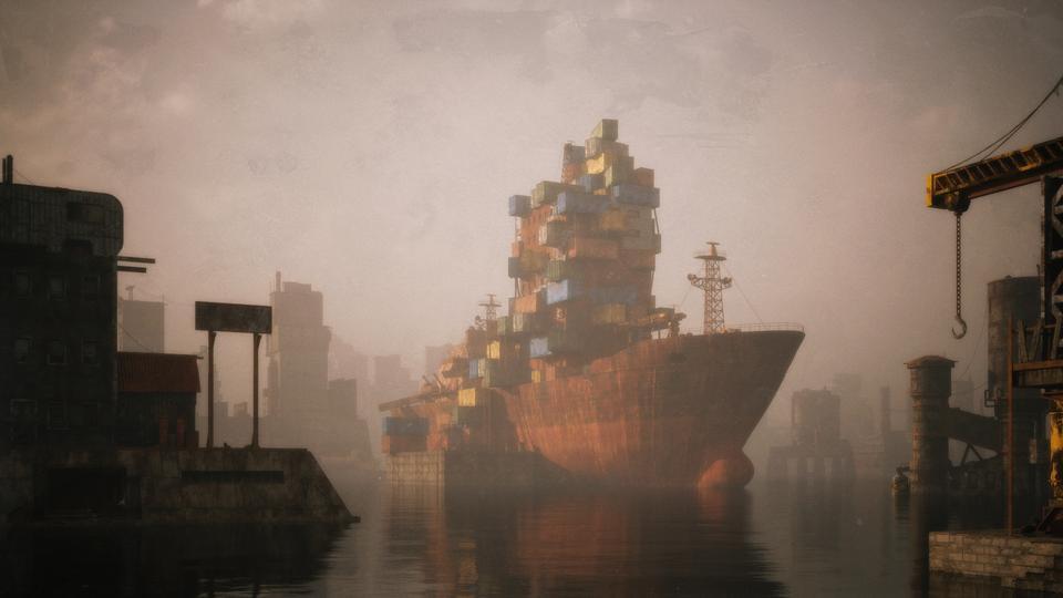 超大荒芜之地废墟工厂场景3D模型 Kitbash3D – Wasteland插图7
