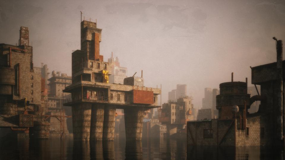 超大荒芜之地废墟工厂场景3D模型 Kitbash3D – Wasteland插图8