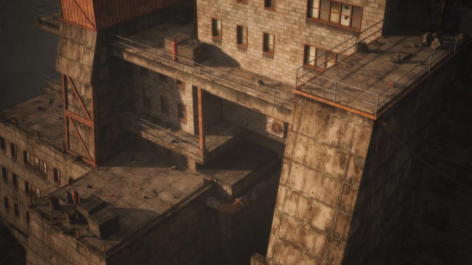 超大荒芜之地废墟工厂场景3D模型 Kitbash3D – Wasteland插图9