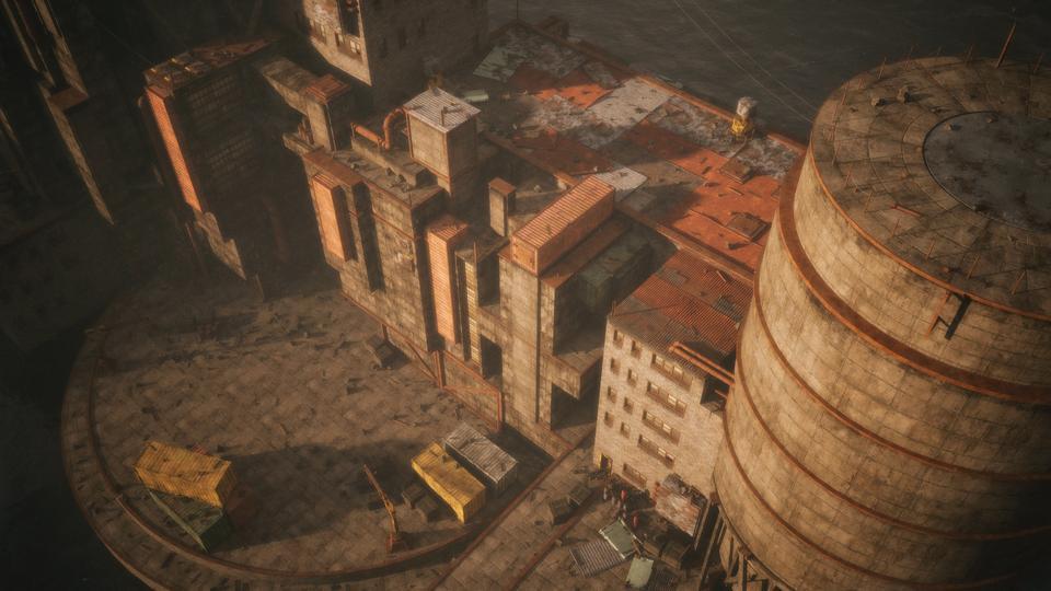 超大荒芜之地废墟工厂场景3D模型 Kitbash3D – Wasteland插图12
