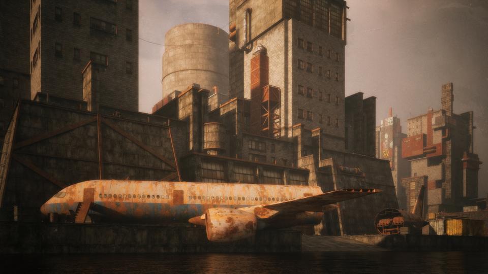 超大荒芜之地废墟工厂场景3D模型 Kitbash3D – Wasteland插图13