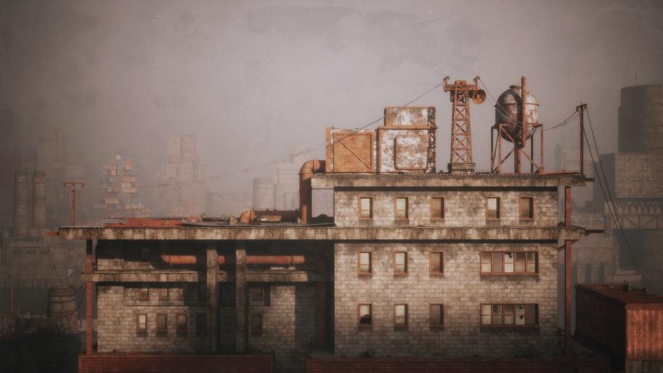 超大荒芜之地废墟工厂场景3D模型 Kitbash3D – Wasteland插图15