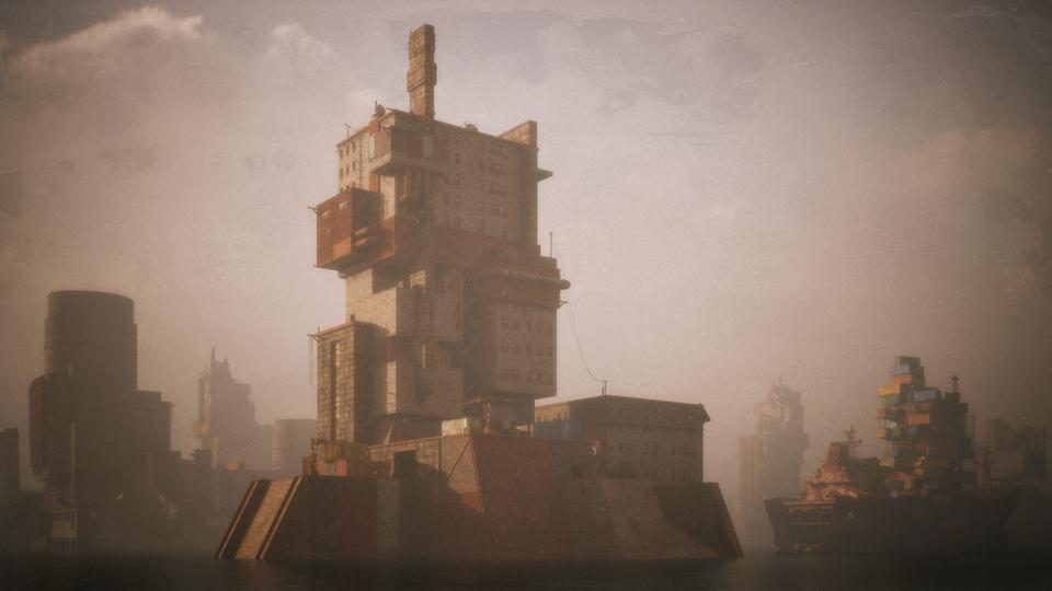 超大荒芜之地废墟工厂场景3D模型 Kitbash3D – Wasteland插图16