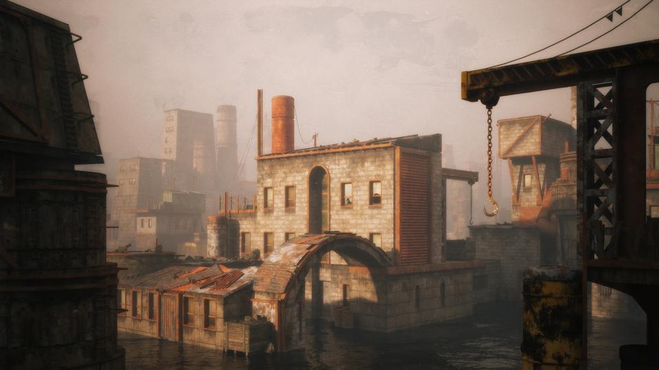 超大荒芜之地废墟工厂场景3D模型 Kitbash3D – Wasteland插图17