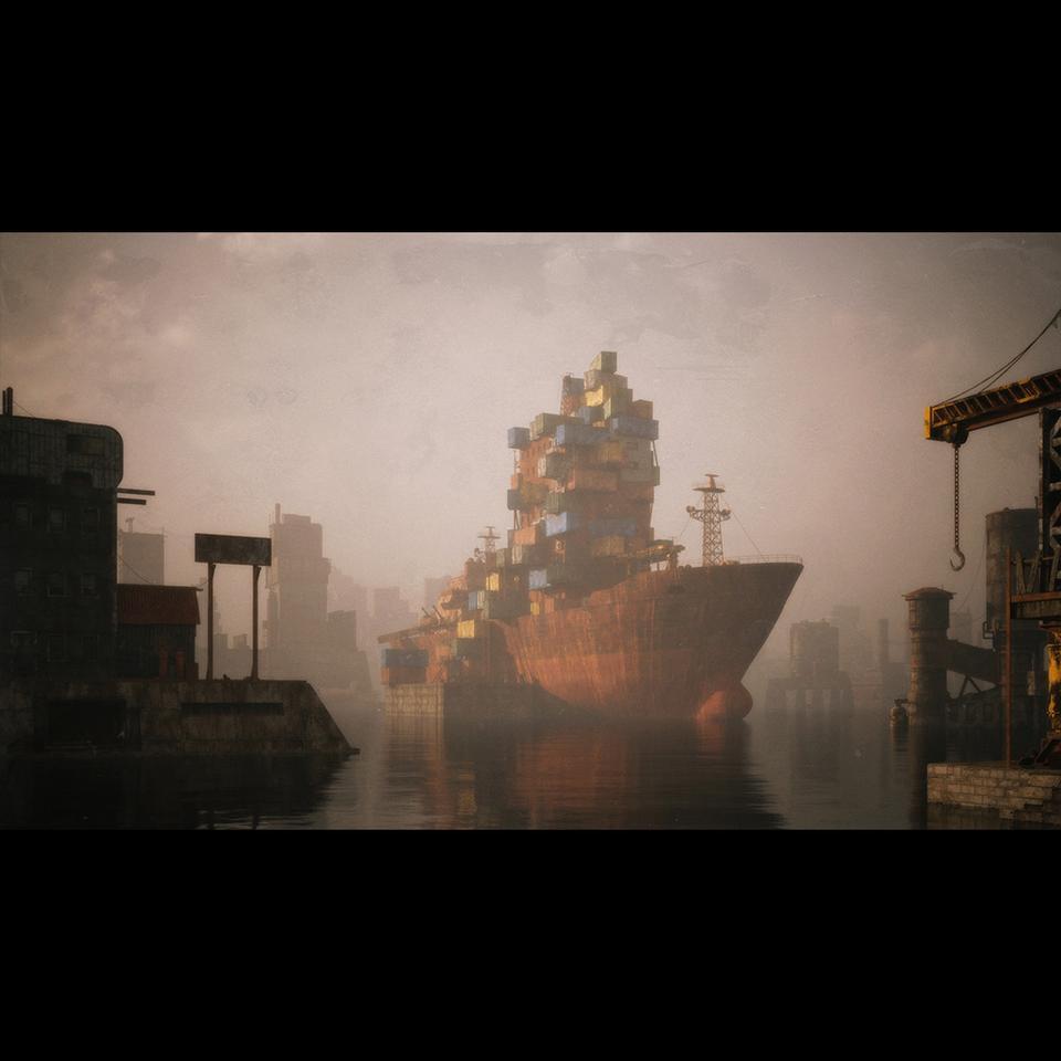 超大荒芜之地废墟工厂场景3D模型 Kitbash3D – Wasteland插图3