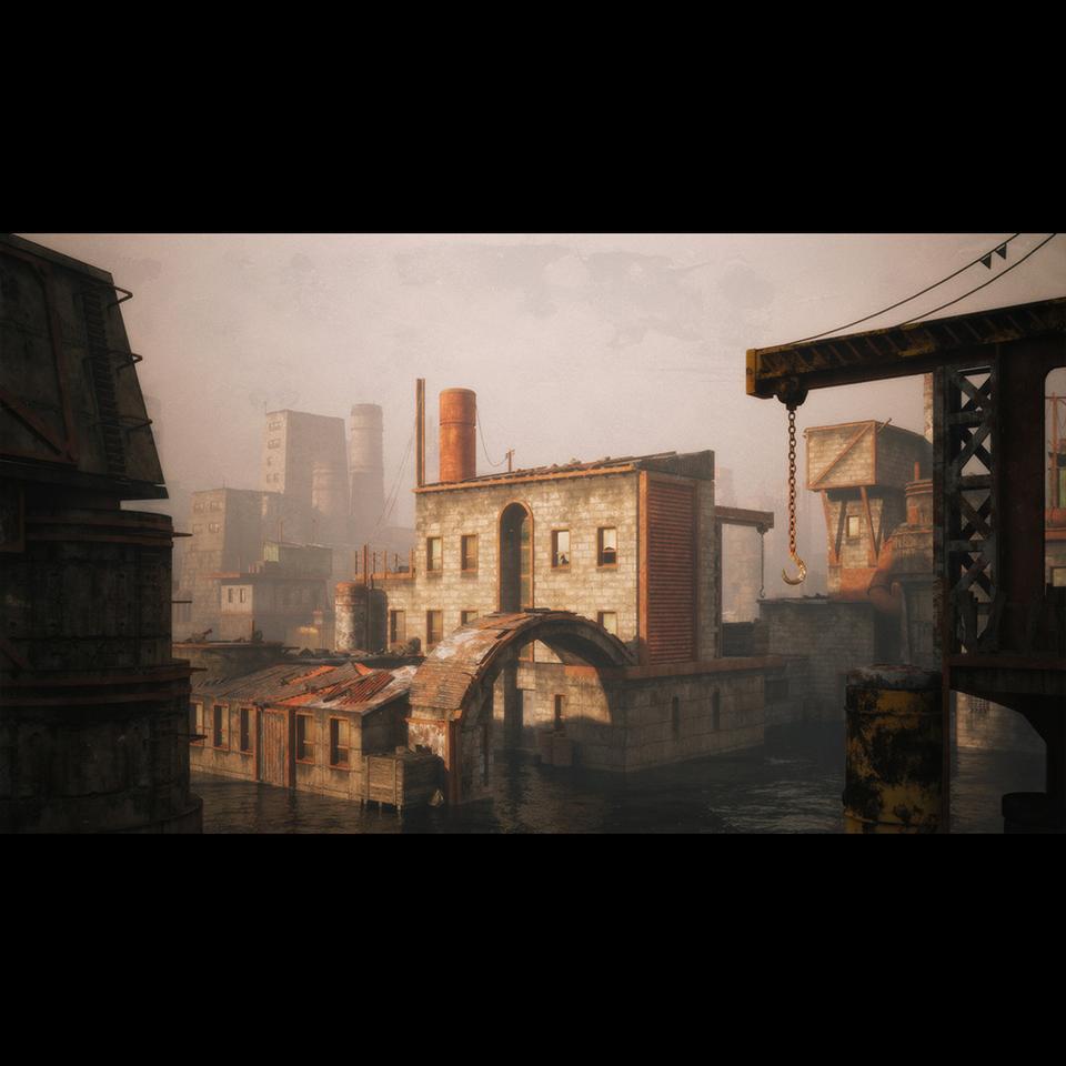 超大荒芜之地废墟工厂场景3D模型 Kitbash3D – Wasteland插图5