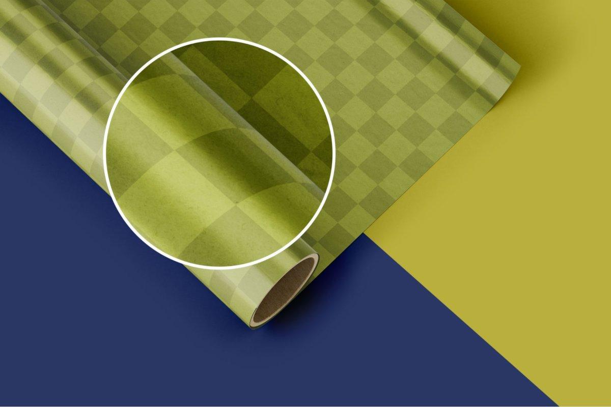 时尚礼品包装纸设计贴图样机PSD模版合集 Gift Wrapping Paper Mockup Set插图4