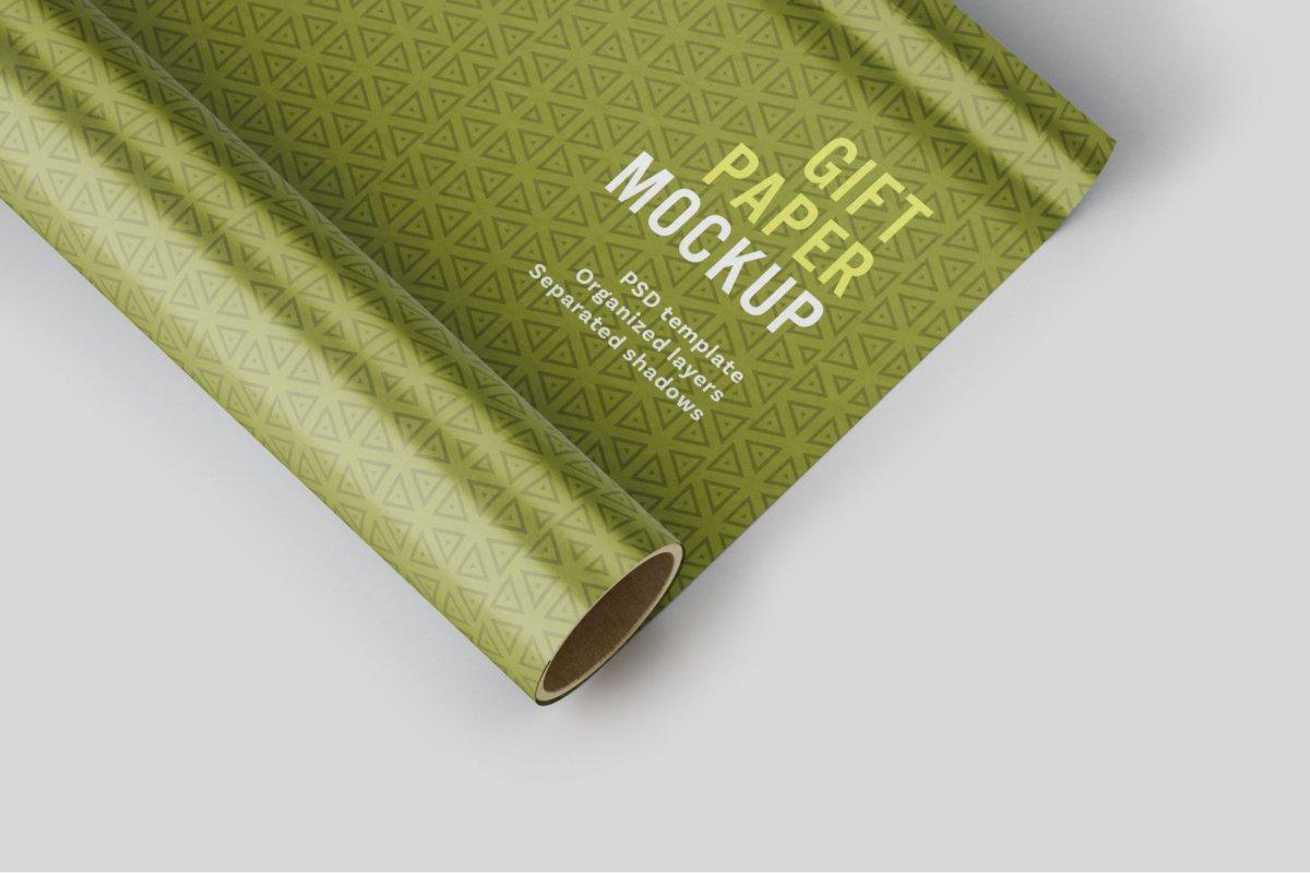时尚礼品包装纸设计贴图样机PSD模版合集 Gift Wrapping Paper Mockup Set插图5