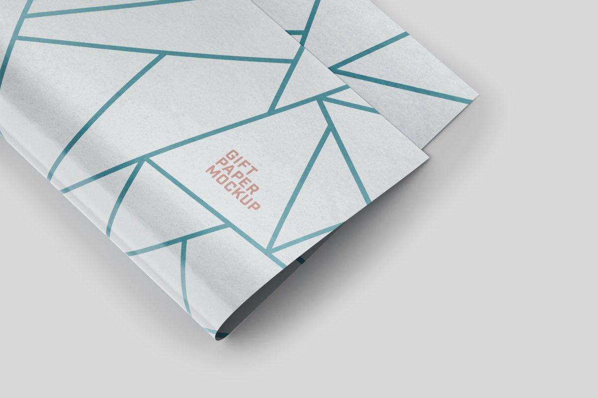 时尚礼品包装纸设计贴图样机PSD模版合集 Gift Wrapping Paper Mockup Set插图6