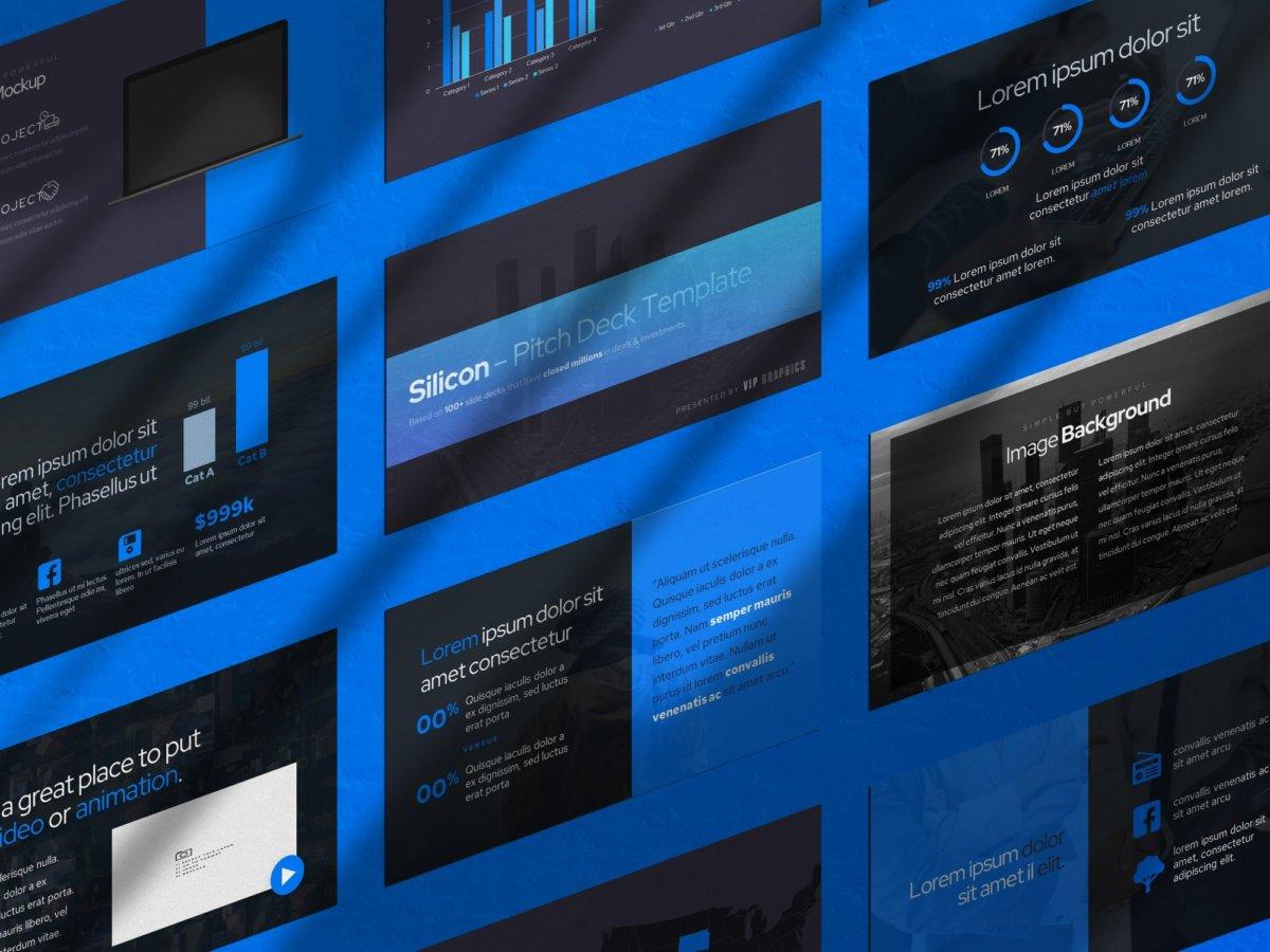 逼真带阴影幻灯片演示文稿设计展示贴图PSD样机模版 Shadows + Slides Mockup Bundle (PSD)插图3